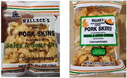 Pork Skins Products Recalled Some Shipped To North