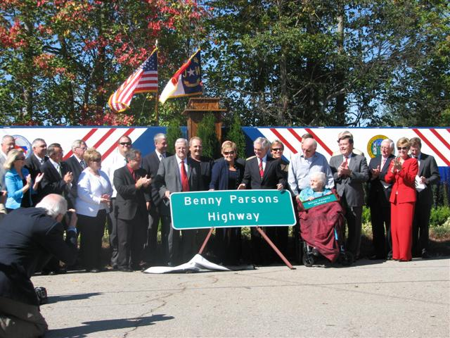 A 5-mile stretch of 421 has been dedicated to racecar legend Benny Parsons